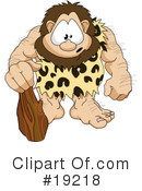 Royalty-Free (RF) caveman Clipart Illustration #19218