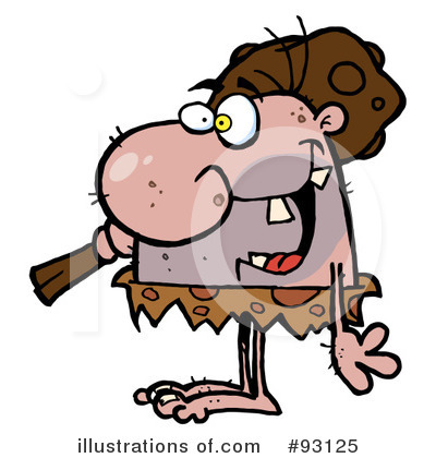 Caveman Clipart #93125 by Hit Toon