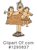 Royalty-Free (RF) Cavewoman Clipart Illustration #1290837