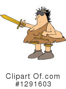 Royalty-Free (RF) Cavewoman Clipart Illustration #1291603