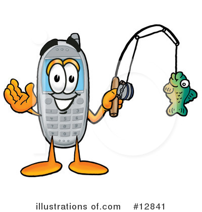 Royalty-Free (RF) Cell Phone Character Clipart Illustration by Toons4Biz - Stock Sample #12841