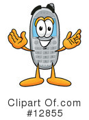 Royalty-Free (RF) Cell Phone Character Clipart Illustration #12855