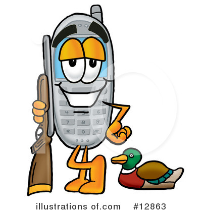 Cell Phone Character Clipart #12863 by Toons4Biz
