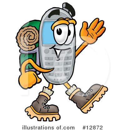 Royalty-Free (RF) Cell Phone Character Clipart Illustration by Toons4Biz - Stock Sample #12872