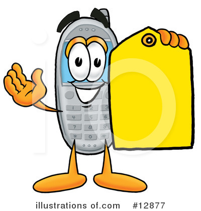 Cell Phone Character Clipart #12877 by Toons4Biz