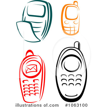 Royalty-Free (RF) Cell Phone Clipart Illustration by Seamartini Graphics ...