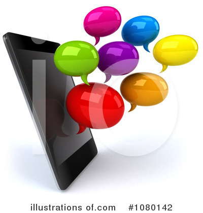 Royalty-Free (RF) Cell Phone Clipart Illustration by Julos - Stock Sample #1080142