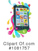 Royalty-Free (RF) Cell Phone Clipart Illustration #1081757