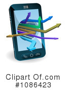 Cell Phone Clipart #1086423 by AtStockIllustration