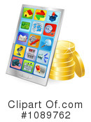 Royalty-Free (RF) cell phone Clipart Illustration #1089762
