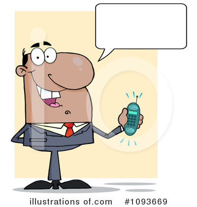 Cell Phone Clipart #1093669 by Hit Toon