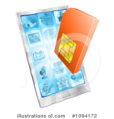 Sim Card Clipart #1094172 by AtStockIllustration