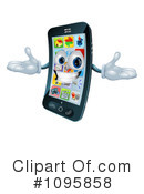 Royalty-Free (RF) Cell Phone Clipart Illustration #1095858