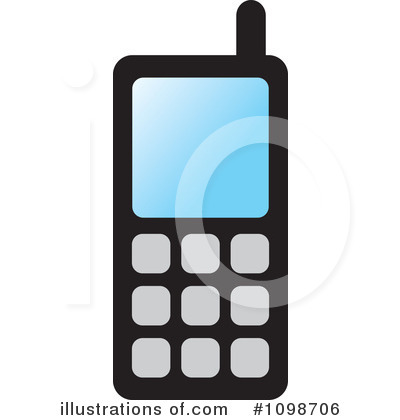Cell Phone Clipart #1098706 by Lal Perera