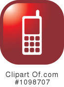 Cell Phone Clipart #1098707 by Lal Perera