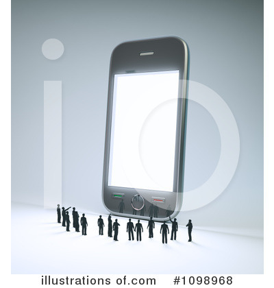 Cell Phone Clipart #1098968 by Mopic
