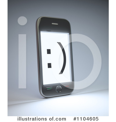 Cell Phone Clipart #1104605 by Mopic