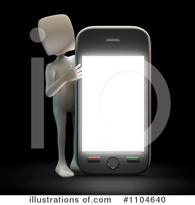Cell Phone Clipart #1104640 by Mopic