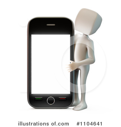 Cell Phone Clipart #1104641 by Mopic