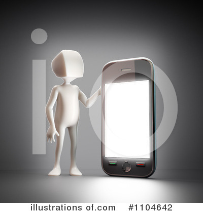 Royalty-Free (RF) Cell Phone Clipart Illustration by Mopic - Stock Sample #1104642
