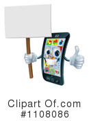 Cell Phone Clipart #1108086 by AtStockIllustration