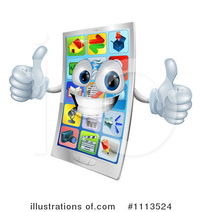 Royalty-Free (RF) Cell Phone Clipart Illustration by AtStockIllustration - Stock Sample #1113524