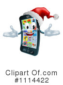 Royalty-Free (RF) Cell Phone Clipart Illustration #1114422