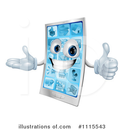 Cell Phone Clipart #1115543 by AtStockIllustration