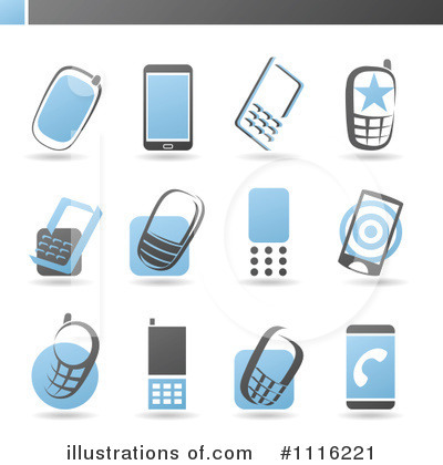 Royalty-Free (RF) Cell Phone Clipart Illustration by elena - Stock Sample #1116221