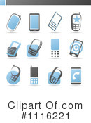 Royalty-Free (RF) cell phone Clipart Illustration #1116221