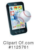 Royalty-Free (RF) Cell Phone Clipart Illustration #1125761