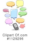 Royalty-Free (RF) cell phone Clipart Illustration #1129296