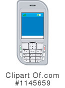 Cell Phone Clipart #1145659 by patrimonio
