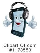 Royalty-Free (RF) cell phone Clipart Illustration #1173559