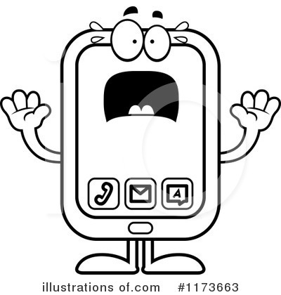 Smart Phone Clipart #1173663 by Cory Thoman