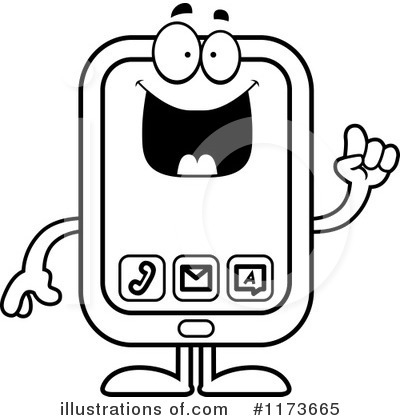 Smart Phone Clipart #1173665 by Cory Thoman