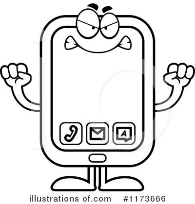 Smart Phone Clipart #1173666 by Cory Thoman
