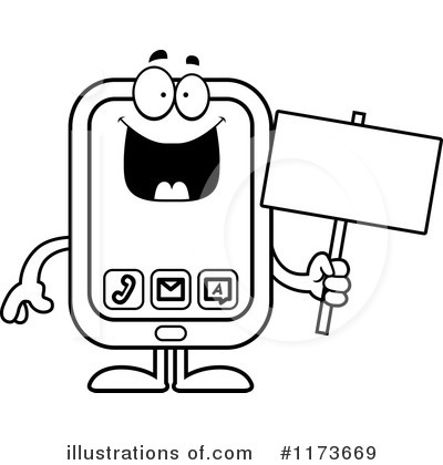 Smart Phone Clipart #1173669 by Cory Thoman