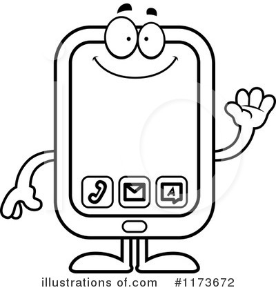 Smart Phone Clipart #1173672 by Cory Thoman