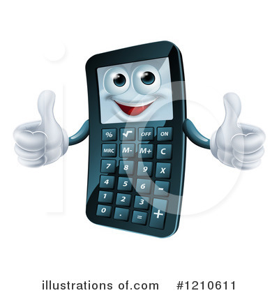 Calculator Clipart #1210611 by AtStockIllustration