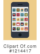 Cell Phone Clipart #1214417 by Eugene