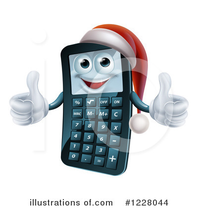 Calculator Clipart #1228044 by AtStockIllustration