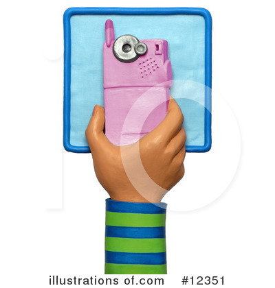 Cell Phone Clipart #12351 by Amy Vangsgard