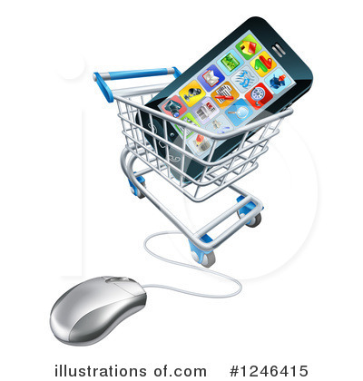 Shopping Cart Clipart #1246415 by AtStockIllustration