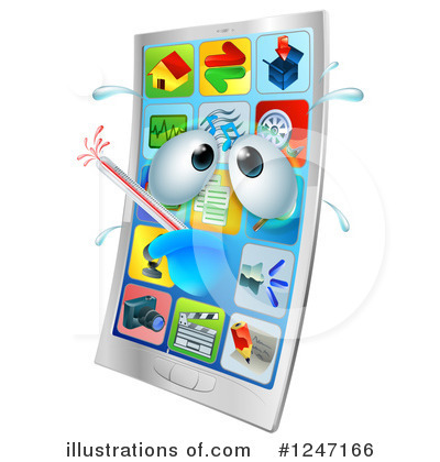 Cell Phone Clipart #1247166 by AtStockIllustration
