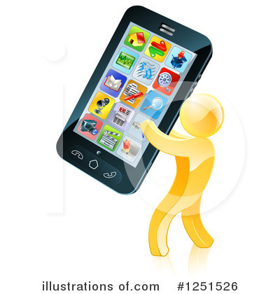 Royalty-Free (RF) Cell Phone Clipart Illustration by AtStockIllustration - Stock Sample #1251526
