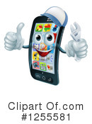 Royalty-Free (RF) Cell Phone Clipart Illustration #1255581