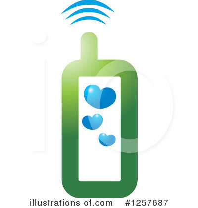 Cell Phone Clipart #1257687 by Lal Perera