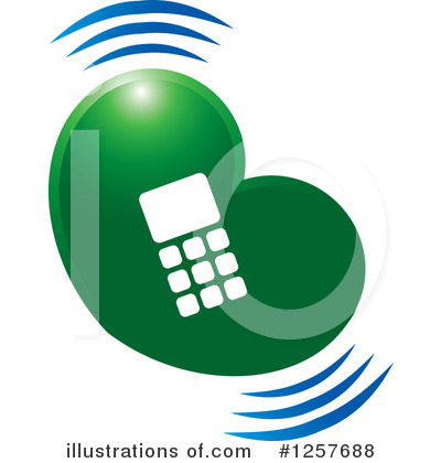 Cell Phone Clipart #1257688 by Lal Perera