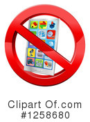 Royalty-Free (RF) Cell Phone Clipart Illustration #1258680